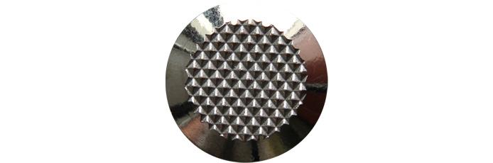 Edelstahlnoppen mit Diamantprägung