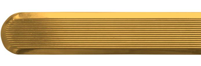Linien aus Messing mit längslaufenden Rillen