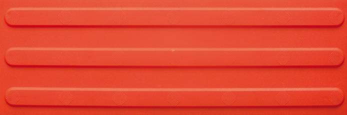 Schmale Platte mit breiten Linien (Leitstreifen)