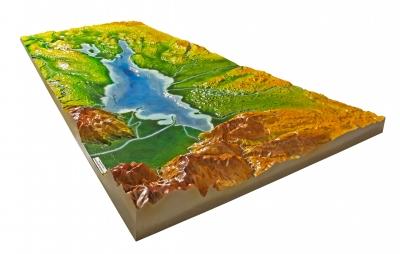 Landschaftsreliefs, Lagepläne und Tastpläne mit und ohne Audioinformation