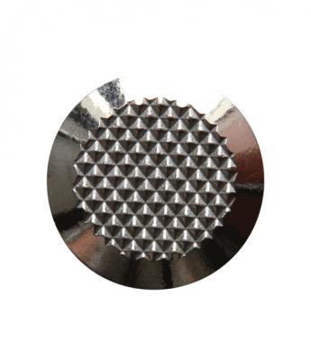 Noppe aus Edelstahl 25mm Durchmesser, mit Diamantprägung