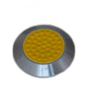Noppe aus Edelstahl 25mm Durchmesser, mit Kunststofffüllung und Noppen