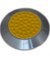 Noppe aus Edelstahl 35mm Durchmesser, mit Kunststofffüllung und Noppen