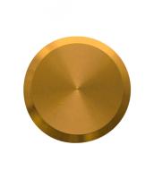 Noppe aus Messing 25mm Durchmesser, blank