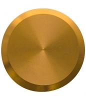 Noppe aus Messing 35mm Durchmesser, blank