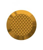 Noppe aus Messing 25mm Durchmesser, mit Diamantprägung