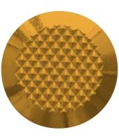 Noppe aus Messing 35mm Durchmesser, mit Diamantprägung