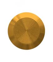 Noppe aus Messing 25mm Durchmesser, mit Kreismuster innen