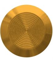 Noppe aus Messing 35mm Durchmesser, mit Kreismuster innen