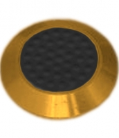 Noppe aus Messing 35mm Durchmesser, mit Kunststofffüllung und Noppen