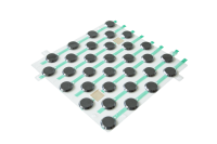 System IZI-ZIP - Noppen Installtions Kit - Blister mit 32 Noppen (35 mm) ca. 300 x 300 mm, selbstklebend (Acrylschaum)