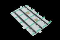 System IZI-ZIP - Linien Installations Kit - Blister mit 3 Linien (16 mm) ca. 295 x 136 mm, selbstklebend (Acrylschaum), Edelstahl 316L (V4A)