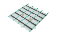 System IZI-ZIP - Linien Installations Kit - Blister mit 5 Linien (16 mm) ca. 295 x 257 mm, selbstklebend (Acrylschaum), Edelstahl 316L (V4A)