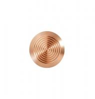 Noppe aus Bronze 25mm Durchmesser, mit Kreismuster innen