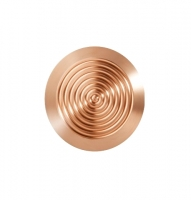 Noppe aus Bronze 35mm Durchmesser, mit Kreismuster innen