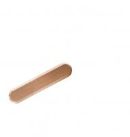 Leitlinien aus Bronze mit längslaufenden Rillen, 25x140mm
