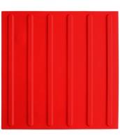 Platte aus Polyurethan 300x300x5mm, 6 Linien ca. 16mm