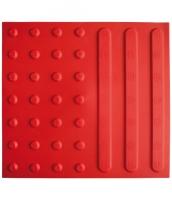 Kombiplatte aus Polyurethan 385x415x7mm, Linien- und Noppenstruktur, breit