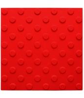 Platte aus Polyurethan 300x300x5mm, 25mm Noppen nach DIN