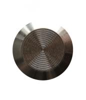 Noppe aus Edelstahl 25mm Durchmesser, mit Kreismuster innen