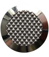 Noppe aus Edelstahl 35mm Durchmesser, mit Diamantprägung