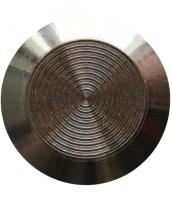 Noppe aus Edelstahl 35mm Durchmesser, mit Kreismuster innen